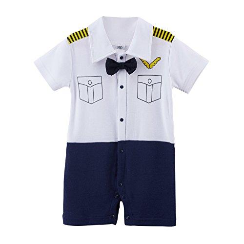 [Arloesi Baby Boys' Pilot Costume Romper (6-9 Months)] (Pilot Costume Boy)