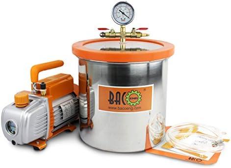 BACOENG Bomba de Vacío 85 L/min con 12 Litro Cámara de vacío: Amazon.es: Bricolaje y herramientas