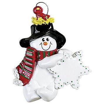 Personalized Christmas Ornaments Bird Nest Snowman Guy Christmas Traditional Snowmen Children Grandchildren Santa Claus 2017