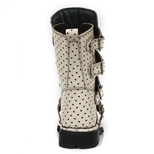 New Rock Boots M.1471-r12 Gotico Hardrock Punk Unisex Stiefel Crema