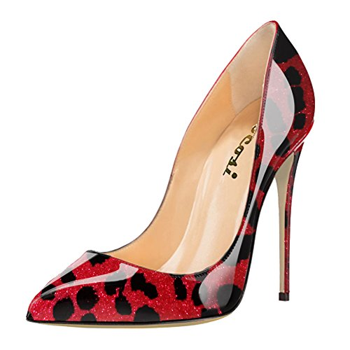 VOCOSI Women's High Heels,Pointed toe Patent Pumps Shoes ...