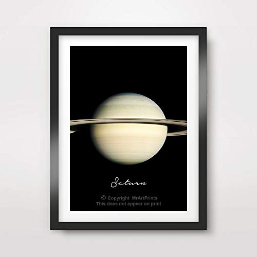 PLANET SATURN ART PRINT Poster Home Decor Outer Space Photo Solar System Wall Picture A4 A3 A2 (10 Size Options) by MrArtPrints