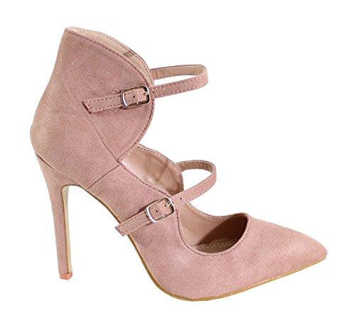 Nude By Femme Shoes Daim Talon Style Escarpin Aiguille wPqS0Cw