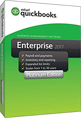 QuickBooks Enterprise 2017 Platinum Edition, 1-User (1-year subscription)