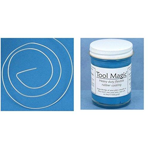 22 Gauge Soft Round Wire Sterling Silver Wire & Tool Magic Rubber Coating 2 Pcs (Tool Magic Rubber Coating)