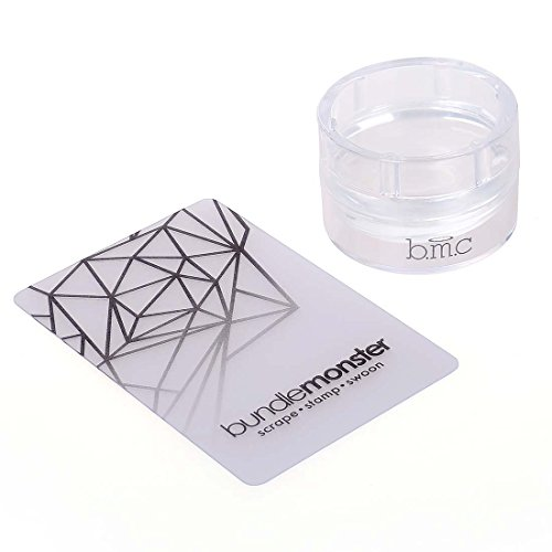 Maniology (formerly bmc) XL Round Clear Silicone Nail Art Monocle Stamper - Glass Stamper Collection