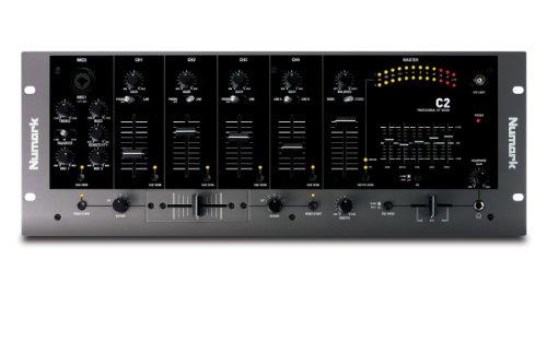 Numark C2 – Mezclador para DJ de cuatro canales con ecualizador de 5 bandas y montaje en rack