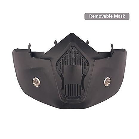 Masques de lunettes de moto détachable, Harley style Protégez lunettes de soleil de casque de rembourrage, route équitation UV verres de moto (Mirror 3LS Kit)