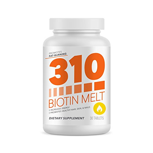 Biotin 10,000 mcg High Potency | 310 Biotin Natural Melting and Dissolving Tablet Helps with Hair Growth, Improved Skin Care, Supports Nail Growth and Improves Energy (310 Natural)