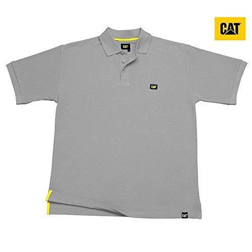Polo de Oruga Cat Mod. C42 100% Algodón, gris: Amazon.es ...