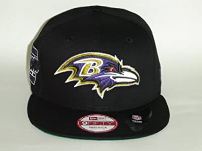 New Era NFL Baltimore Ravens Black Primary Fan Snapback Cap 9fifty