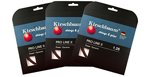 Kirschbaum Pro Line II 125 Buy 2 & Get One More Free!! Promo Pack Pro Line II 125 Set, Black, 125/17g