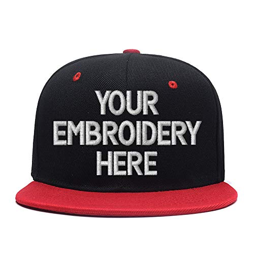 Personalized Embroidered Hat,Custom Trucker Cap for Men/Women,Adjustable Unisex Hat(Black) for $<!--$13.35-->