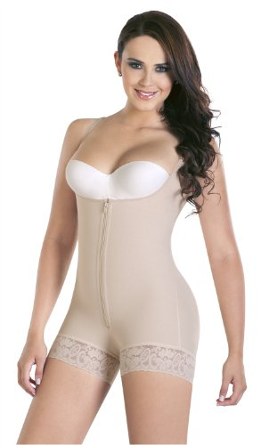 Fajas Colombianas Body suit post-surgery postpartum - Beige - Medium