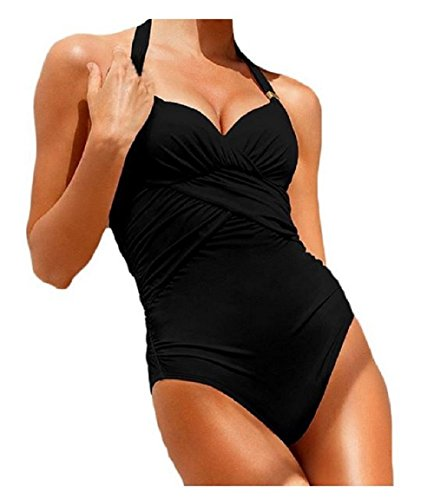 Costumi Da Bagno Per Donna Un Pezzo; Nero XS (EU 34 – 36)