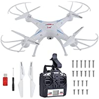 X5SW RC Quadcopter Drone ,2.4GHz 4 CH WiFi Quadcopter with 0.3MP HD Wifi Camera 6 Axis 3D Flip Flight