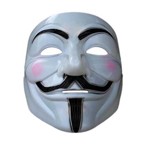 Anonymous Movie Costumes (ACE Halloween Cosplay Cool V For Vendetta Anonymous Movie Adult Guy Costume Mask)