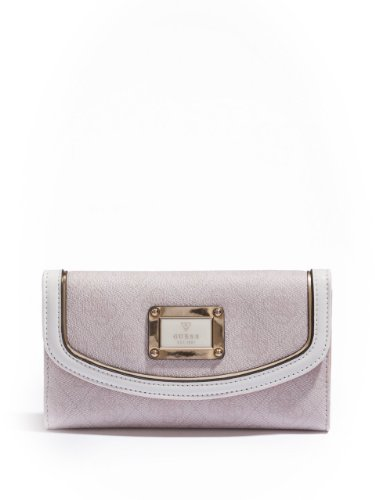 GUESS Women's Reama Slim Clutch, CEMENT
