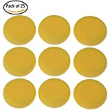 Buytra 25 Pack Synthetic Artist Paint Sponges Round Watercolor Sponges for Painting, Craft, Ceramics, Pottery, Wall, Yellow