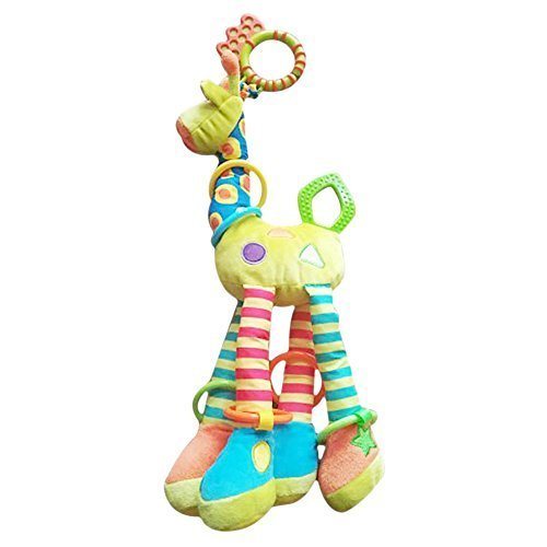 CoLPo Infant Baby Development Soft Giraffe Animal Handbells Rattles Handle Toys