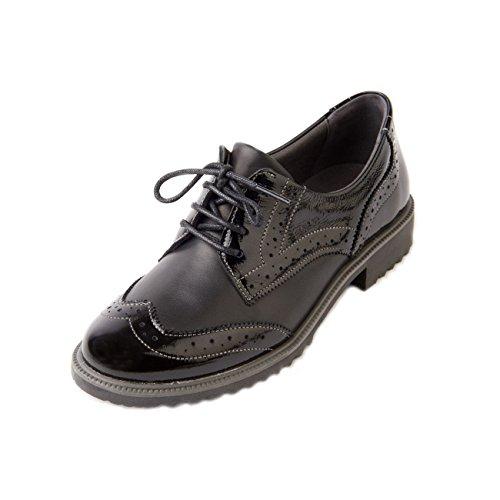 Donna Fit Suave Soave Women's Broguing In Ampia Con Black Da Shoe E Vernice Scarpe 'nikki' Detail Dettagli E Broguing Forma Nera With Patent 'nikki' Wide In YwvXqXdxr1