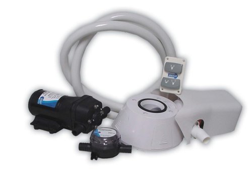 Jabsco 37255-0094 Manual to Electric Marine Toilet Conversion Kit with Intake Pump, Quiet Flush, 24 Volt, 15 Amp primary