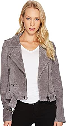 Blank NYC Women's Moto Jacket in Silver Screen Silver Screen Outerwear