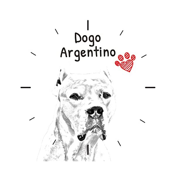 Dogo Argentino, freestanding MDF Floor Clock with an Image of a Dog 2