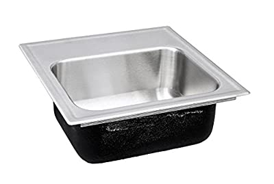 Just SLADA1613A3,6.5,DCC 18 Gauge Drop In Single Bowl Ada Stainless Steel Sink with Faucet Ledge