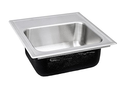 Just SBL-1515-A-GR-2 (4OC) Single Bowl 18-Gauge T-304 Stainless Steel Commercial Grade Bar Sink