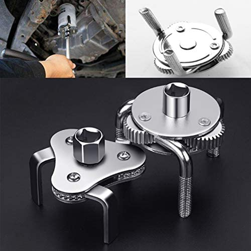 Adjustable Oil Filter Wrench Removal Tool 3//8 Square Drive Socket 1//2 Adapter LIOOBO Two Way Auto