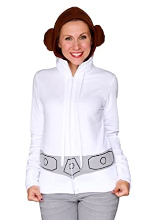 Her Universe Women's Star Wars Princess Leia Hoodie 3XL White