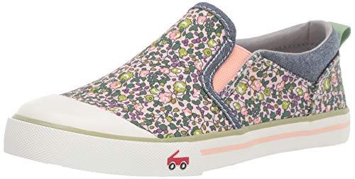 See Kai Run Girls' Italya Sneaker, Pink Floral, 1Y M US Little Kid