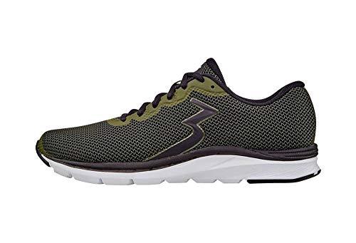 361 Men's 361-ENJECTOR Running Shoe, Army/Black_7909, 10.5 M US