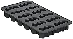 Icup Dc Comicc' Batman Molded Rubber Ice Cube Tray, Grey