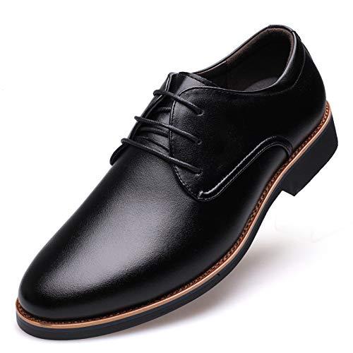 Scarpe Derby da Uomo Scarpe in Pelle Scarpe Stringate in Vero Cuoio Nero Marrone Black