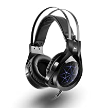 Gaming Headphones PS4 with Mic, MAD GIGA CZ Bass Surround, 7.1 Stereo Sound Gaming Headpset USB with Stealth Microphone forPC,Laptop