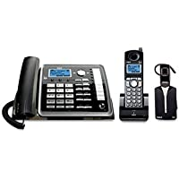 RCA-25270RE3 Business 2 Line Corded/Cordless DECT 6.0 Phone System with Call Waiting and Caller ID and 3 Cordless Handsets, 1 Corded Handset, 1 Headset by RCA