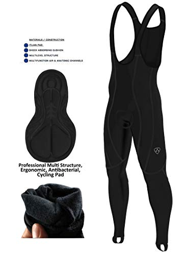 DHERA Cycling Bib Trousers – Paded thermal Tights Pants Cold Gear Bike Leggings Sports