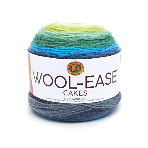 Lion Brand Yarn 621-202 Wool-Ease Cakes Yarn One Skein Poseidon