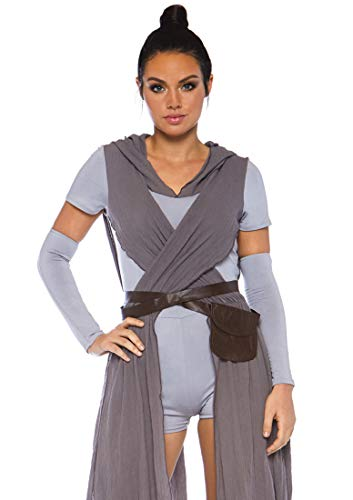 Leg Avenue Womens Star Galaxy Rebel Halloween Costume, Grey, X-Large