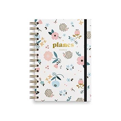Charuca PLD04 - Diario planes con diseño Erizo, color blanco ...
