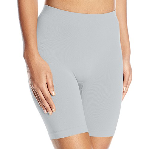 Vassarette Women's Comfortably Smooth Slip Short Panty 12674, Feather Grey, 2X-Large/9 (Climbing Shorts Spandex)