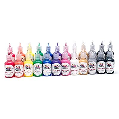 S&S Worldwide Color Splash! Dimensional Fabric Paint, 1 oz. Assorted (pack of 24) by S&S Worldwide