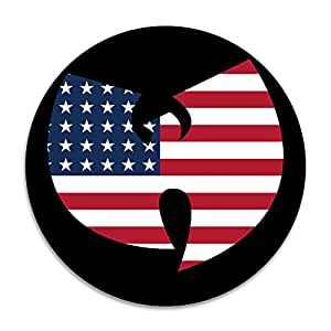 WU-tang Clan americano bandera goma backdurable 15.75x 15.75inches odor-free Felpudo