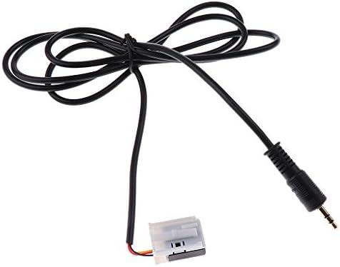 車載ケーブル 3.5mmAUXオーディオ入力アダプタ ケーブルコネクタ 汎用 スマホ タブレット用