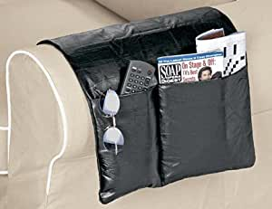 Genuine Leather Chair and Sofa Arm Caddy Organizer.