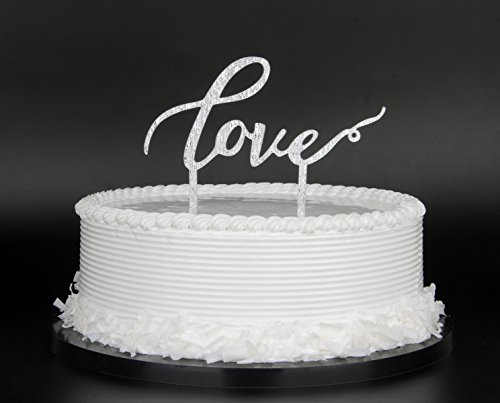 LOVE-Cake-Topper-for-Wedding-Party-Decorations-Silver
