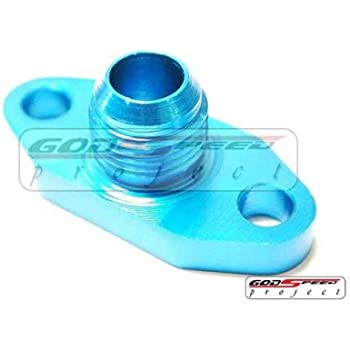 Turbo Oil Drain Flange 10an Fitting Fit Most of Turbonetics/Garrett/Precision/Brogwarner Big Name Brand Blue Color