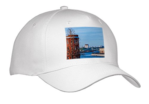 3dRose Alexis Photography - Moscow City - View Of The Moscow River and The City In Spring Season - Caps - Adult Baseball Cap (River City Cap)